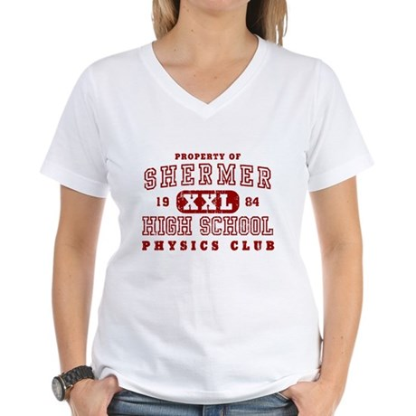 Shermer High Physics Club Womens V-Neck T-Shirt