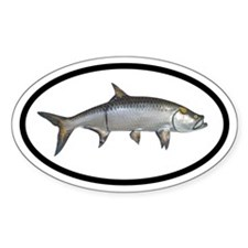 Deep Sea Fishing Tarpon Oval Decal