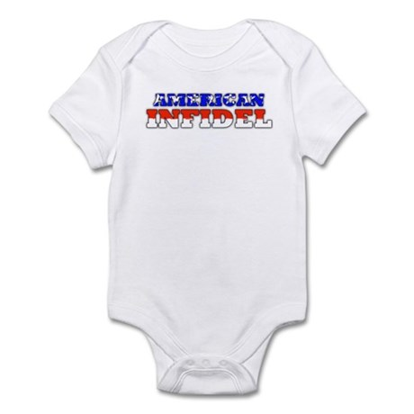 Flag American Infidel Infant Creeper