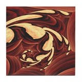 """Grain"" Fractal Art Tile Coaster"