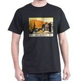 Vintage Edinburgh Travel Post T-Shirt