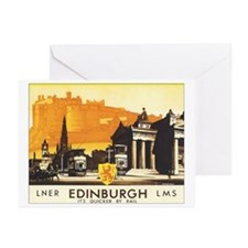 Vintage Edinburgh Travel Post Greeting Cards (Pk o
