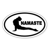 Yoga Namaste Oval Decal