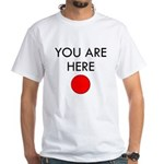 U R Here White T-Shirt