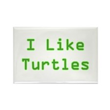 I Like Turtles Rectangle Magnet (10 pack)