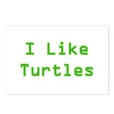 I Like Turtles Postcards (Package of 8)