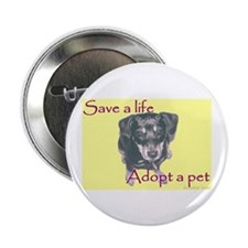 "2.25"" Button (10 pack) - Save a Life, Adopt a Pet"