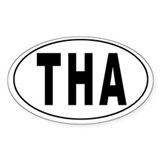 THAILAND Oval Decal