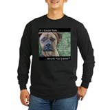 Stop Dog Fighting - Long Sleeve Dark TShirt