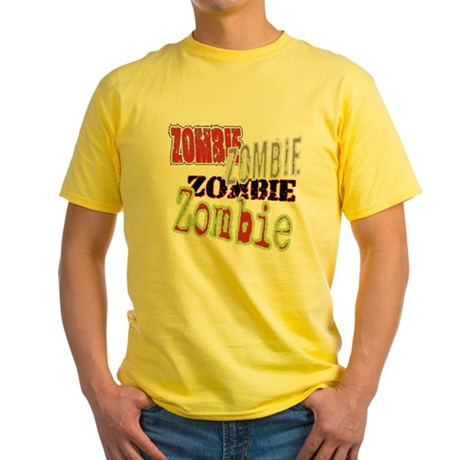 Zombie Creepy Halloween Yellow T-Shirt