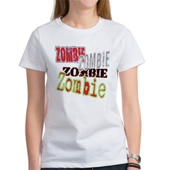 Zombie Creepy Halloween Women's T-Shirt