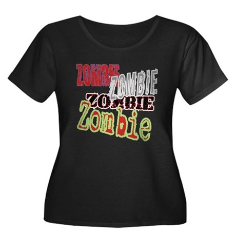 Zombie Creepy Halloween Women's Plus Size Scoop Ne