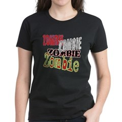 Zombie Creepy Halloween Women's Dark T-Shirt