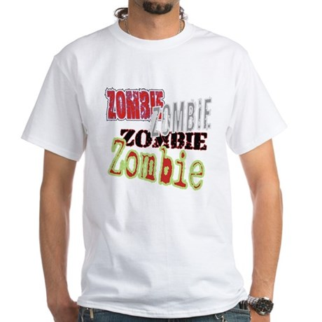 Zombie Creepy Halloween White T-Shirt