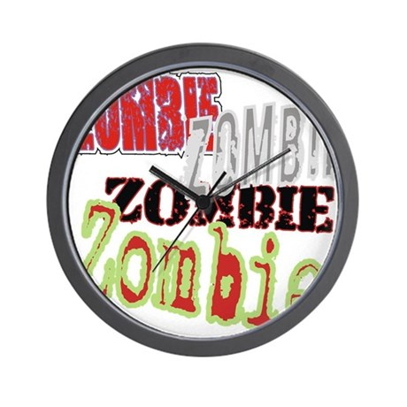 Zombie Creepy Halloween Wall Clock