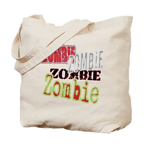 Zombie Creepy Halloween Tote Bag
