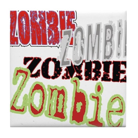 Zombie Creepy Halloween Tile Coaster