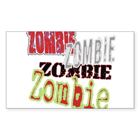 Zombie Creepy Halloween Rectangle Sticker
