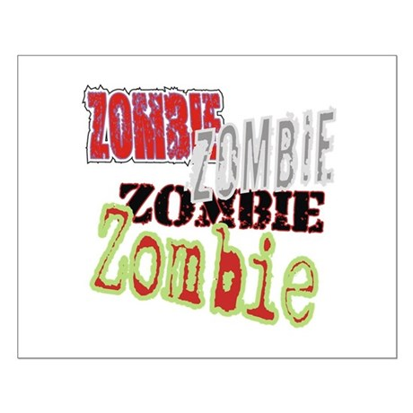 Zombie Creepy Halloween Small Poster
