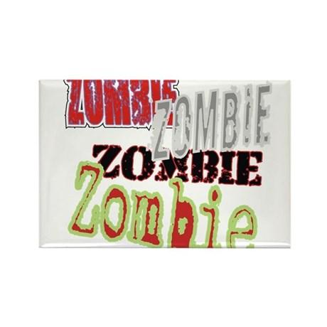 Zombie Creepy Halloween Rectangle Magnet (10 pack)