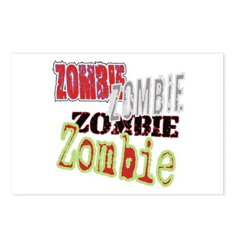 Zombie Creepy Halloween Postcards (Package of 8)