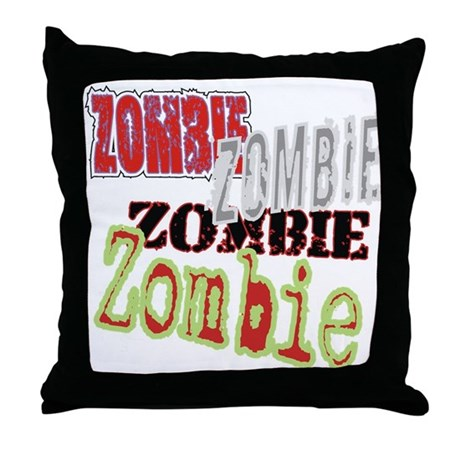 Zombie Creepy Halloween Throw Pillow