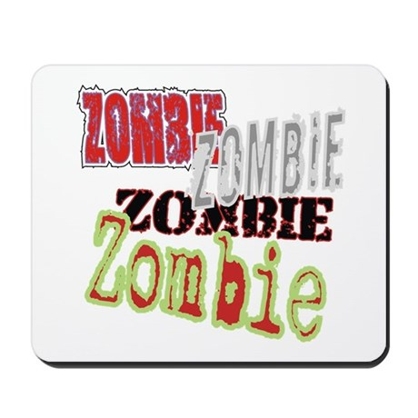 Zombie Creepy Halloween Mousepad