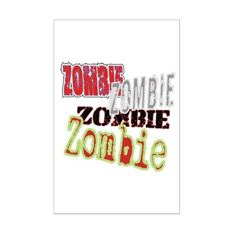 Zombie Creepy Halloween Mini Poster Print