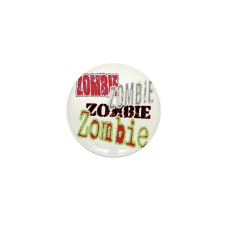 Zombie Creepy Halloween Mini Button (10 pack)