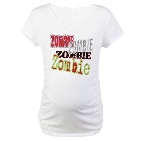 Zombie Creepy Halloween Maternity T-Shirt