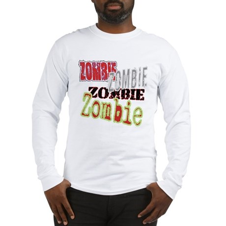 Zombie Creepy Halloween Long Sleeve T-Shirt