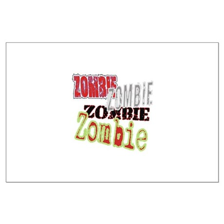 Zombie Creepy Halloween Large Poster
