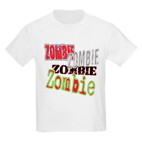 Zombie Creepy Halloween Kids Light T-Shirt