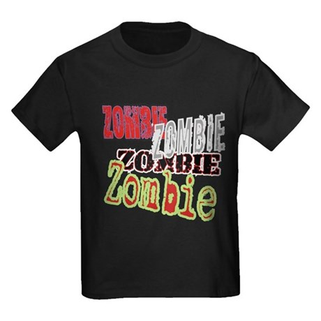 Zombie Creepy Halloween Kids Dark T-Shirt
