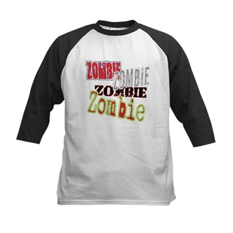 Zombie Creepy Halloween Kids Baseball Jersey