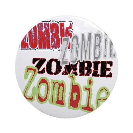 Zombie Creepy Halloween Ornament (Round)