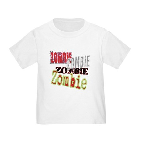Zombie Creepy Halloween Toddler T-Shirt