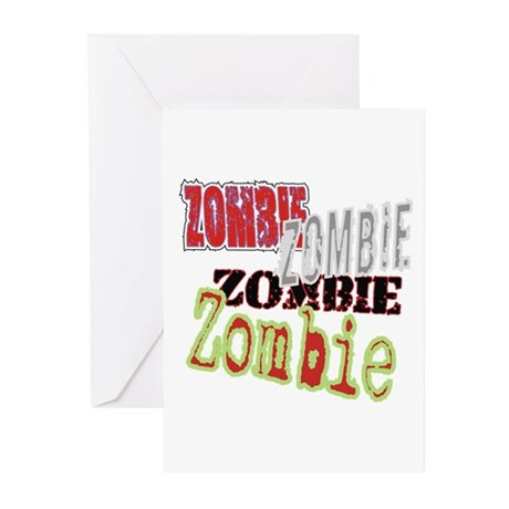 Zombie Creepy Halloween Greeting Cards (Pk of 20)