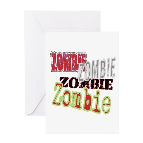 Zombie Creepy Halloween Greeting Card