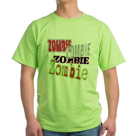 Zombie Creepy Halloween Green T-Shirt