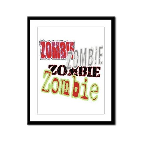 Zombie Creepy Halloween Framed Panel Print