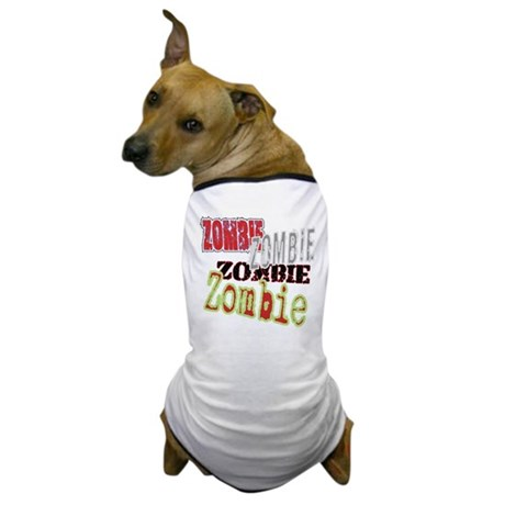 Zombie Creepy Halloween Dog T-Shirt
