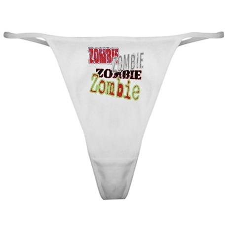 Zombie Creepy Halloween Classic Thong