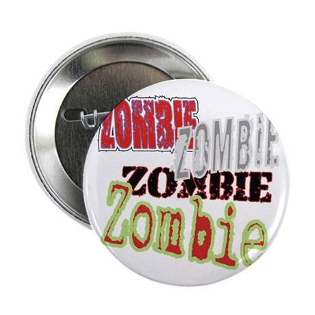 "Zombie Creepy Halloween 2.25"" Button (10 pack)"