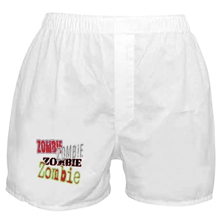 Zombie Creepy Halloween Boxer Shorts