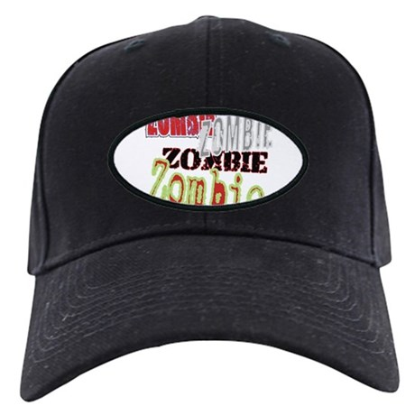 Zombie Creepy Halloween Black Cap