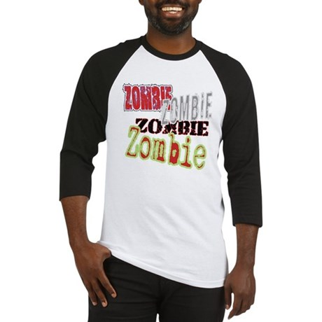 Zombie Creepy Halloween Baseball Jersey