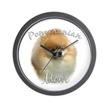 Pomeranian Mom2 Wall Clock