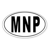 NORTHERN MARIANA ISLANDS Oval Decal