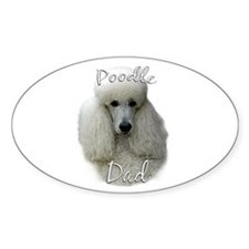 Poodle Dad2 Oval Decal